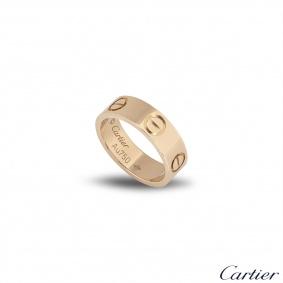Cartier Rose Gold Plain Love Ring Size 54 B4084800